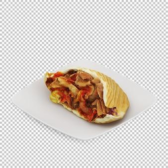 Comida rápida isométrica comida rápida isométrica