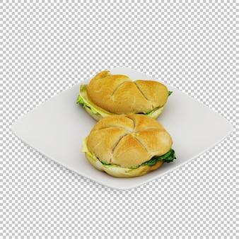 Comida rápida isométrica
