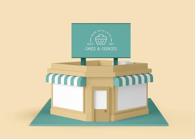 Commerciale esterno per torte e biscotti