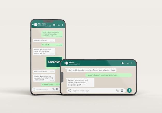 Communicatieconcept met telefoons