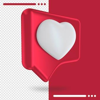 Como botón aislado de instagram en representación 3d
