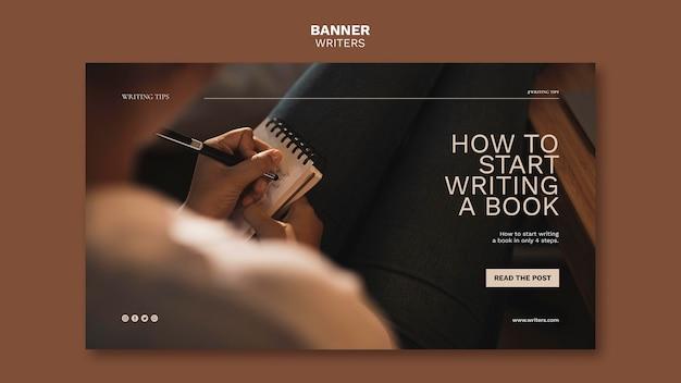 Cómo empezar a escribir una plantilla de banner de libro