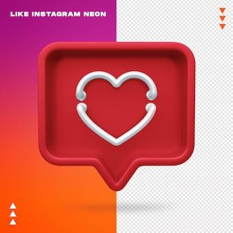 Como instagram neon aislado