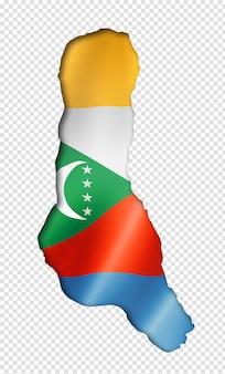 Comorese vlag kaart