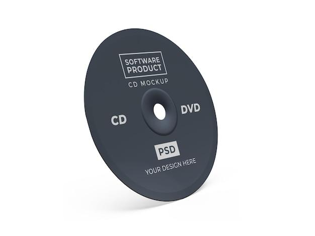 Compact disc cd 3d mockup-ontwerp