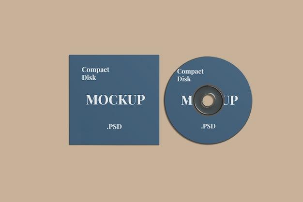 Compact disk mockup