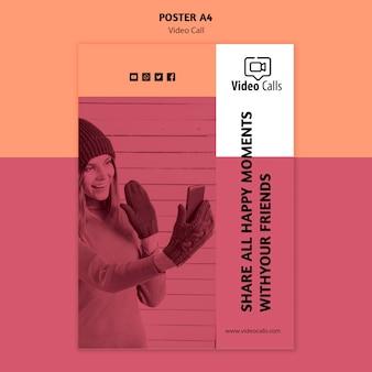 Compartir todos los momentos felices plantilla de póster