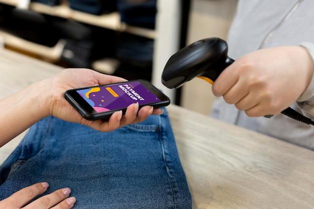 Composición de la aplicación de pago móvil.