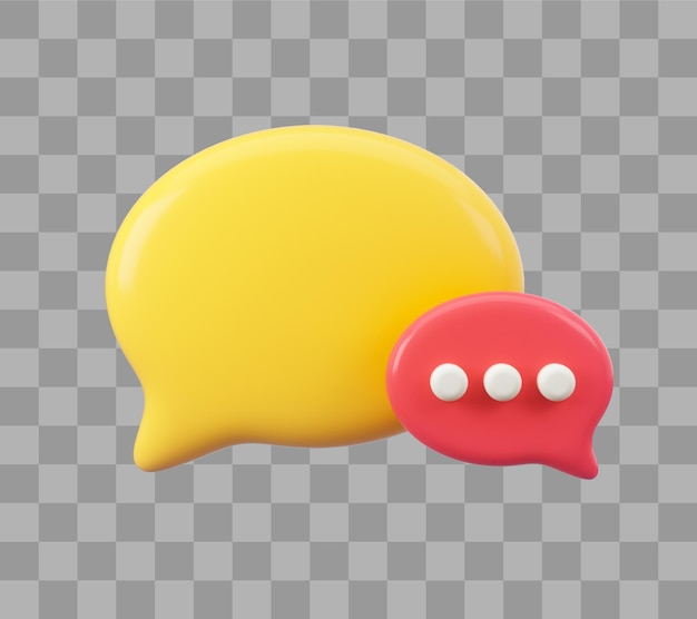 Composición de burbujas de discurso con lugar para texto