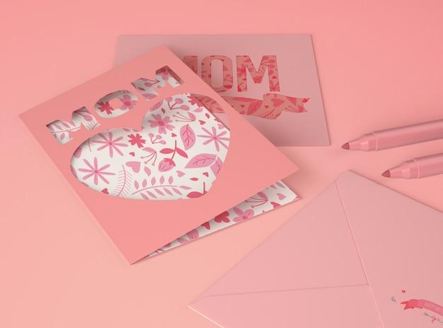 Composición para creador de escenas del día de la madre con tarjeta