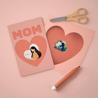 Composición creativa para el creador de la escena del día de la madre.