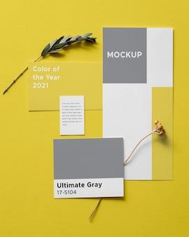 Composición definitiva de elementos grises e iluminadores