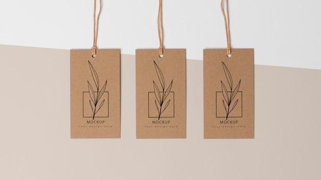 Composición de etiquetas de cartón de maquetas