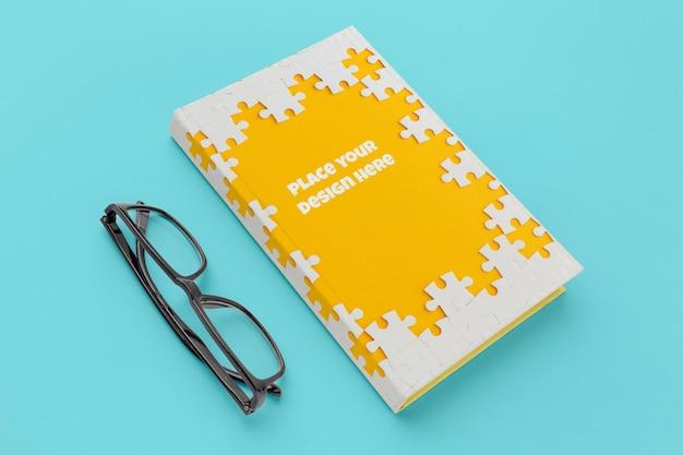 Composición de maqueta de portada de libro