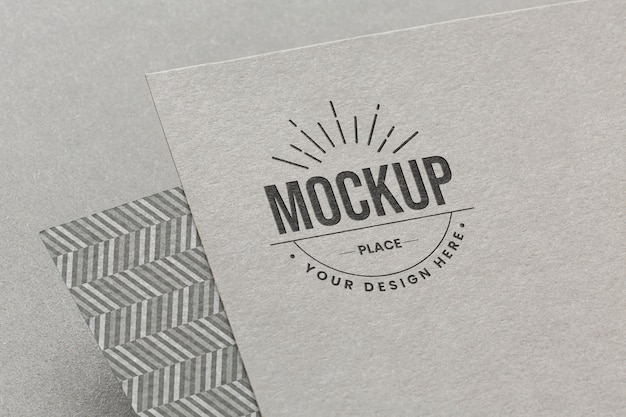 Composición con maqueta de tarjeta de marca de empresa.