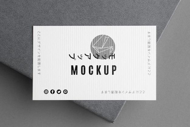 Composición de maqueta de tarjeta de visita plana laica