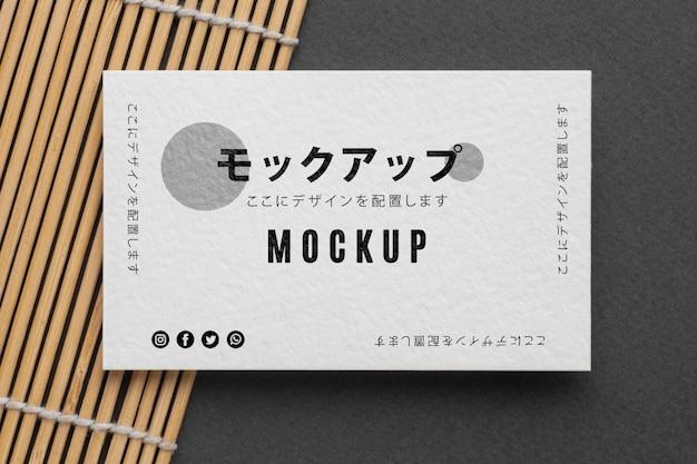 Composición de maqueta de tarjeta de visita