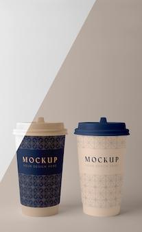 Composición de la maqueta de la taza de la cafetería.