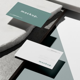 Composición moderna de tarjeta de visita de maqueta