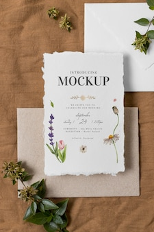 Composición de tarjetas de boda