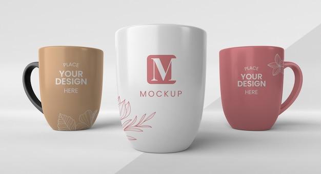Composición de tazas de café mínimas.