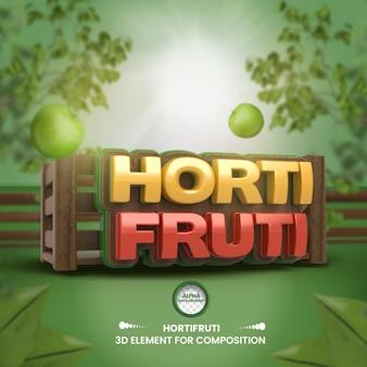 Composición de la tienda de comestibles de etiqueta 3d para la campaña de supermercados portugués