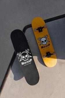 Compositie met mock-up skateboards