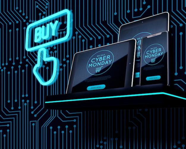 Comprar ahora oferta electrónica cyber lunes