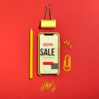 Compras en línea en el teléfono móvil