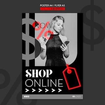 Compre ahora plantilla de póster de moda en línea