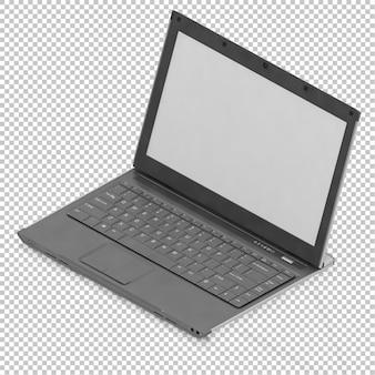 Computadora portátil isométrica