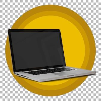 Computer laptop geïsoleerd op transparante achtergrond.