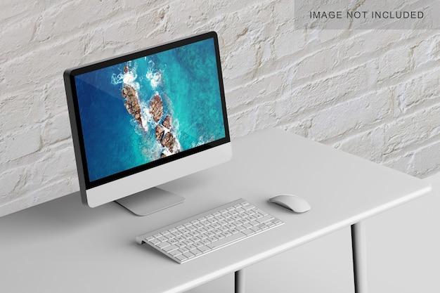 Computer op een tafel