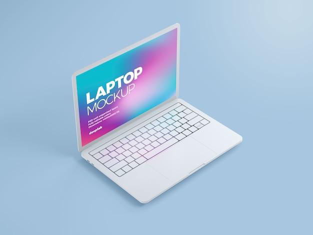 Computer portatile con mockup di sfondo modificabile
