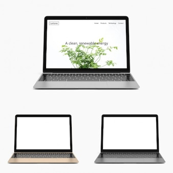 Computer portatile realistico mock up