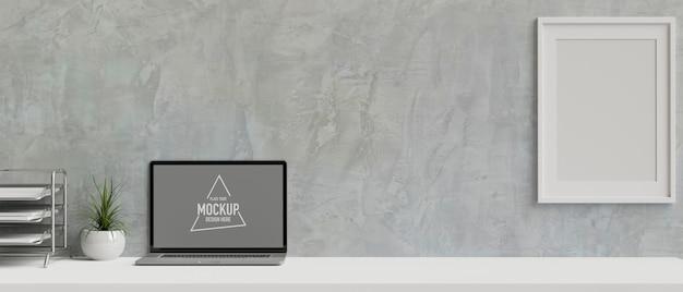 Computermonitor met mockup-scherm
