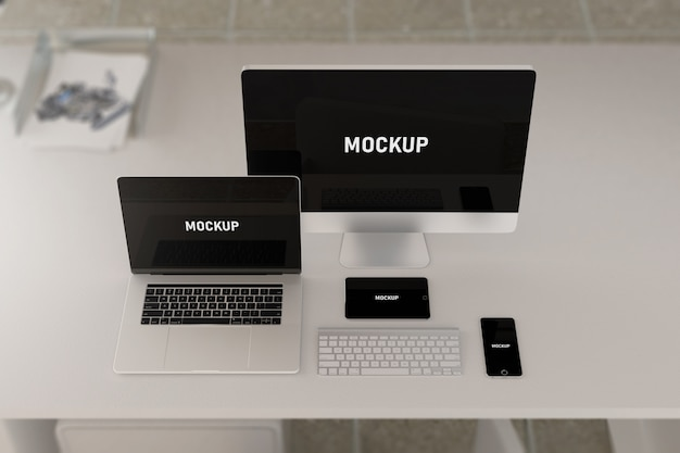 Computing-apparaten mockup
