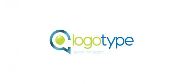 Comunicazione aziendale template vettoriale logo