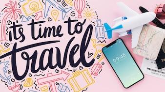 Conceito de viagens com smartphone