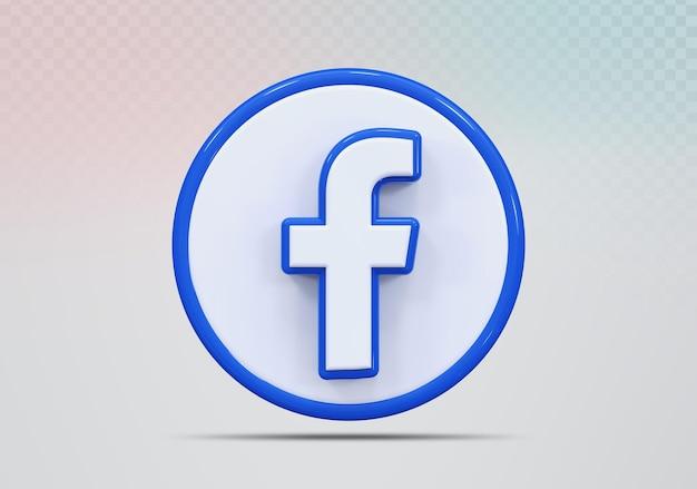 Concept pictogram 3d render facebook