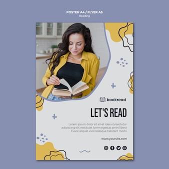 Concept poster sjabloon lezen