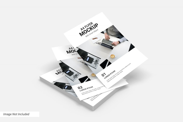 Concept van business flyer mockup
