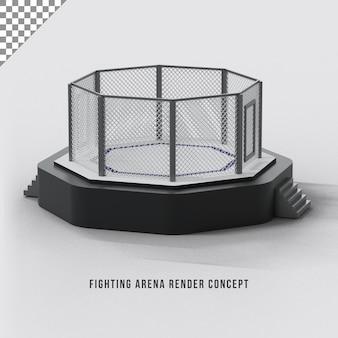 Concepto de arena de lucha 3d
