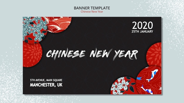 Concepto de banner para año nuevo chino