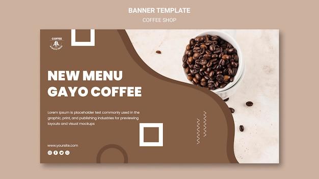 Concepto de banner de cafetería