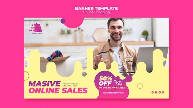 Concepto de banner de compras en línea