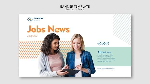 Concepto de banner con mujeres de negocios