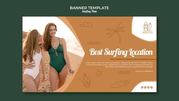 Concepto de banner de surf