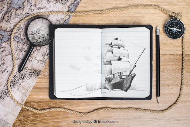 Concepto de barco de vela