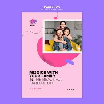Concepto de cartel del día nacional de la familia
